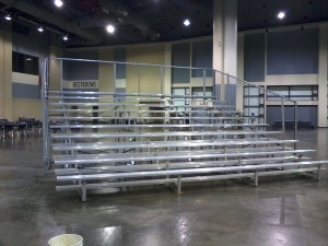 10-row bleachers without center aisle