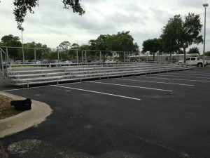 outdoor bleacher seating