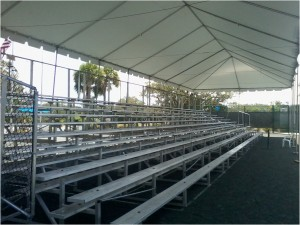 Covered Rental Bleachers
