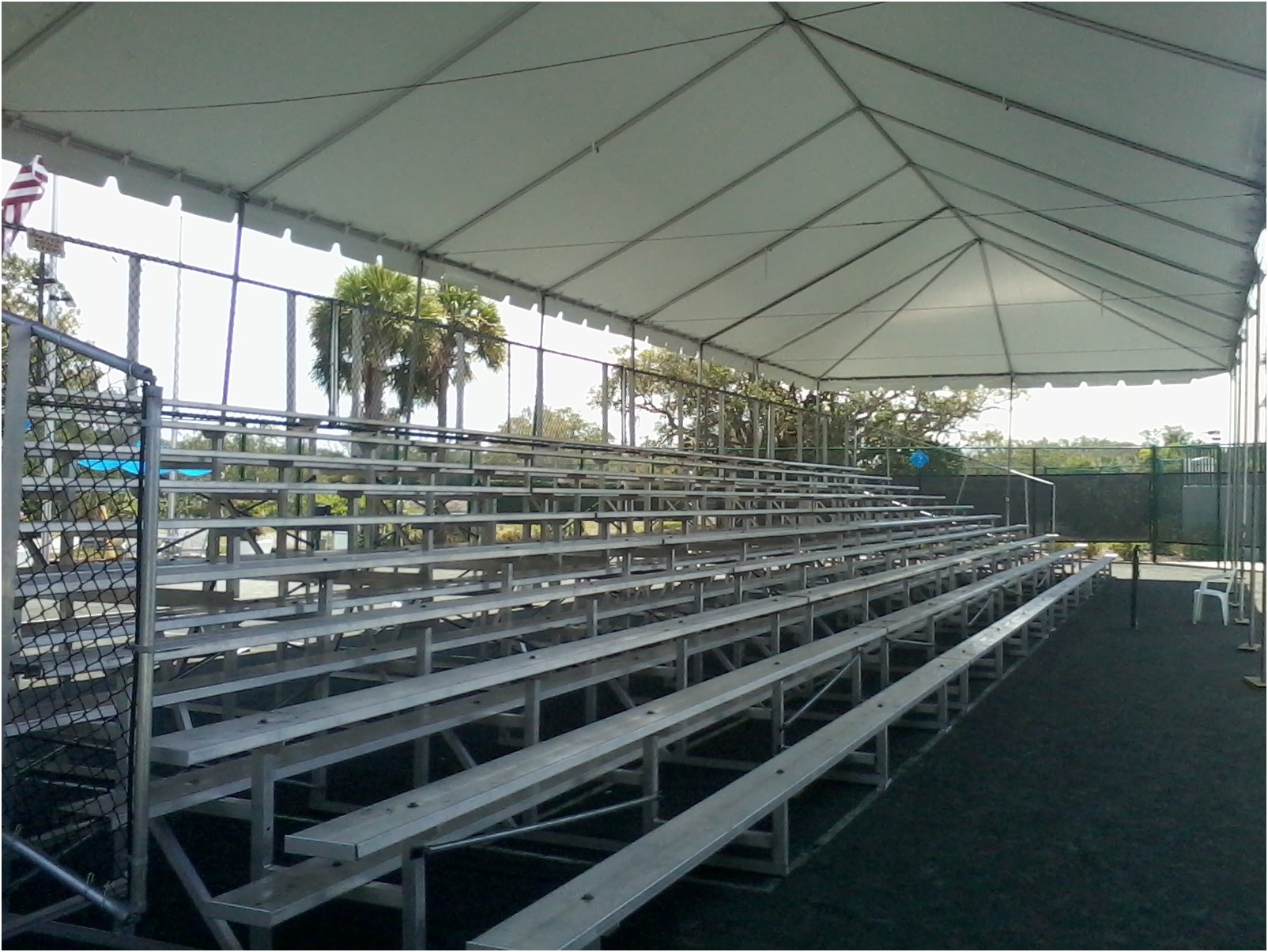 Spring Sports Bleachers to Rent | Temporary Portable Aluminum Seating