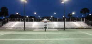 84′ long 10row event bleacher for tennis