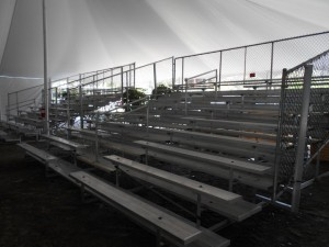 Event Bleachers in Tent
