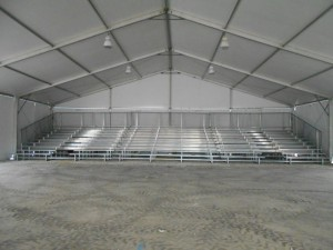 10 row used bleachers with 2 mid aisle