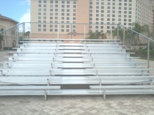 10 row used bleachers with center aisle
