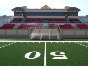 Football field rental bleachers