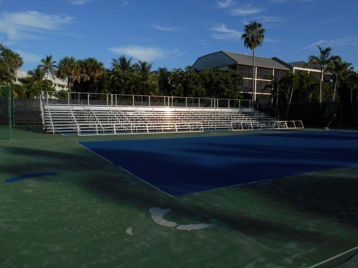 Captiva Island Tennis Event bleacher rental- Naples Florida