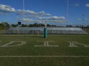 football bleachers