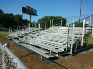 21 foot long 10 row bleacher unit