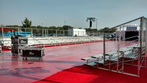 red carpet event bleacher rental